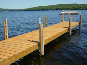 build wooden boat dock
